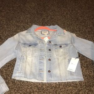 Sequined Cropped Jean Jacket